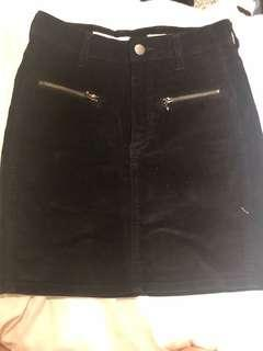 Wrangler velvet mini denim skirt size 6
