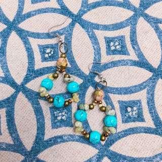 Summer Turquoise Dangling Earrings