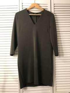 Dynamite olive green dress - size small