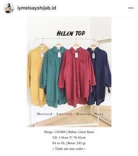 Helen Top by Iymelsayshijab Warna Emerald