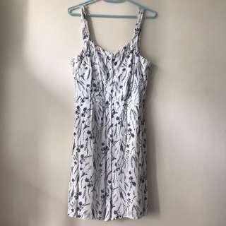 Jack wills button front dress with floral pattern 斯文裙