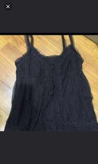 BNWT Zara dark brown lace top