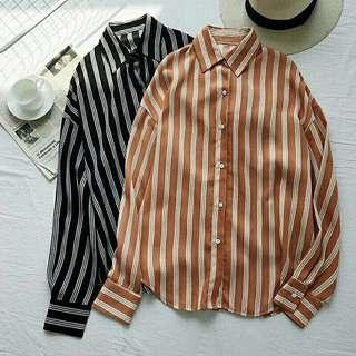 Stripped chiffon blouse