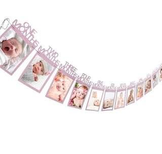 Kids birthday decor- 1 to 12 months photo decoration