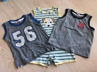 🚚 Boys Tank top and romper 18-24 months
