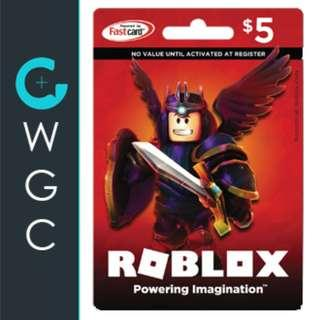 $5 - $25 Roblox Gift Cards