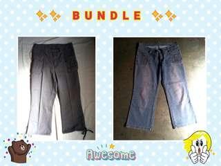 Bundle: Capri Pants (cotton & denim)