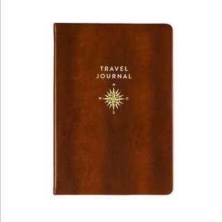 Eccolo World Traveler Journal, Brown with Gold Compass