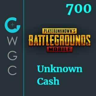 PUBG Mobile UC Unknown Cash