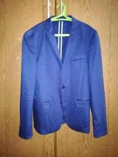 Jas Pria / Blazer Biru The Executive Slim Fit Used