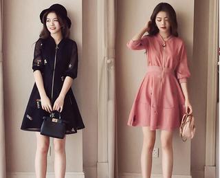 (L - 4Xl) Ladies Dress #2534