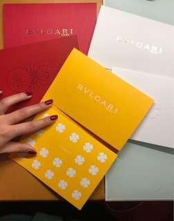 Bvlgari Roma Greeting Cards 賀卡 (內含三卡+三信封)