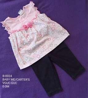 Baby Girl Top + Pants 0-3M