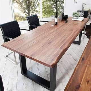 KYLE Modern Industrial Solid Wood Table