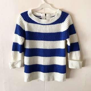 Striped Knit Pullover / Top
