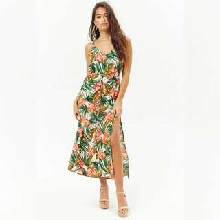 Tropical Motif Maxi Dress