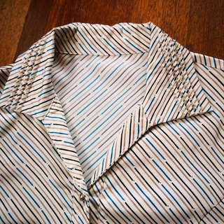 Striped Silky Long Sleeves