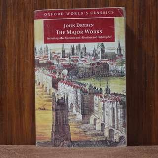 The Major Works of John Dryden [Oxford World Classics]