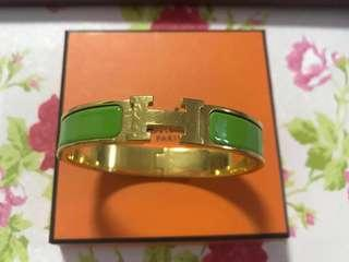 Authentic Hermes Clic Clac Apple green colour