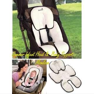 🚚 Ready Stock! Brand New Summer Infant Snuzzler Newborn Baby Full Head Body Support for Car Seats and Strollers, Black Velboa (Crash Tested, 5 Star Review ⭐️)