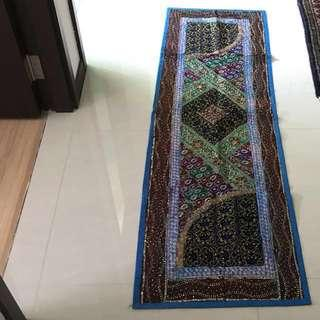Long Sari Embroidery Tapestry Table Runner