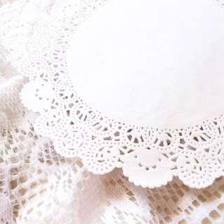 [20 Large Sheets] Pretty Lil Paper Doilies - Pack Of 20 Ivory Sheets.