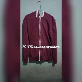 H&M Zipper Maroon Original (second)