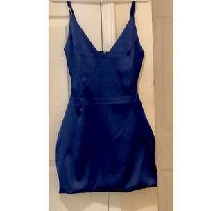 BNWT -Royal blue satin dress