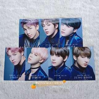BTS BLOOD SWEAT & TEARS UNIVERSAL MUSIC JAPAN SPECIAL PHOTOCARD SET