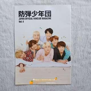 BTS JAPAN OFFICIAL FANCLUB MAGAZINE VOL. 4 [RARE]