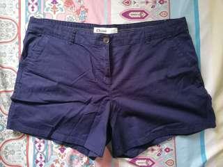 Plus Size Navy Blue Shorts