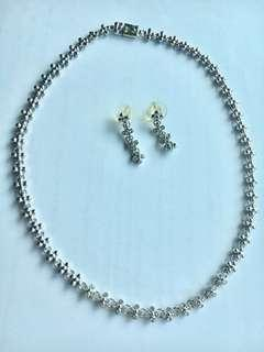 Swarovski Crystals Necklace & Earrings
