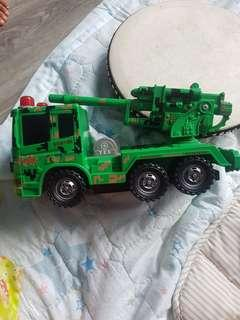 Camoflage army truck