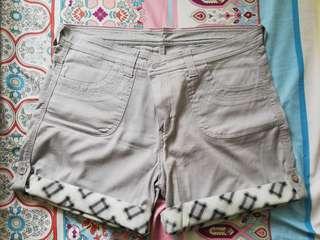 Plus Size Gray Shorts
