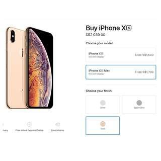 BNIB Apple iPhone XS MAS 256GB. Shrinked wrap. - NOT OPENED