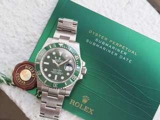 "Rolex 116610LV Submariner ""Hulk"" 2014"