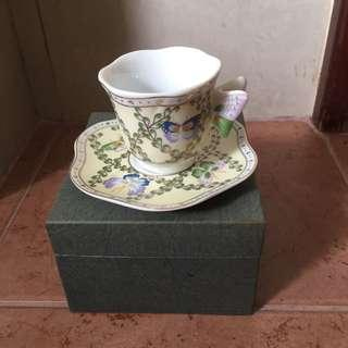 Royton Ceramic Butterly teacup and saucer