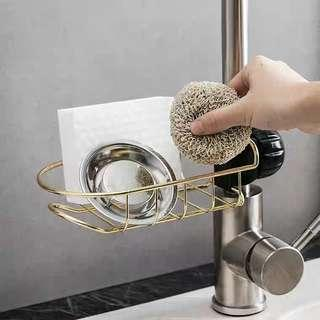 🚚 (Instock) Mod Black and Gold Faucet Rack