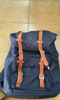 Pull and Bear Haversack Blue