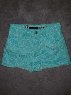Factorie Teal Shorts