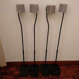 Sony surround speakers (with stands)