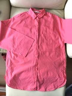 Zara oversize pink shirt