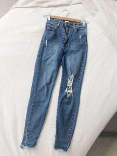 Cotton On Dark Washed High Waisted Jeans