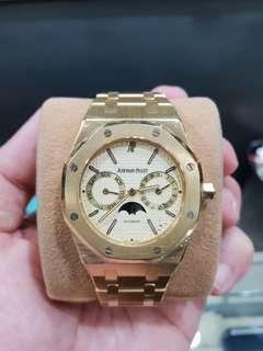 Audemars Piguet Royal Oak Day Date Moon Phase Solid Gold 18k Watch only