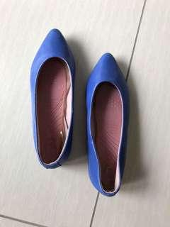Bright blue ballet flats size 37 | genuine leather 💙