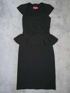Boohoo Black Midi Dress