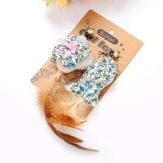 [Ready Stock] CT066 Cat Toys Set - Fish and Square