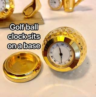 Golf mini clock