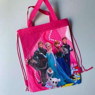 Frozen party supplies - draw string goodie bags with hand carry / backpack / party bag