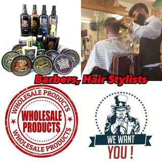 Wholesale prices for pomades, clays and other barber supplies for barbers and hairstylists ! Barbershop hair salons look here!